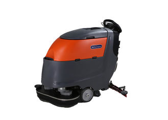 Double Brush Commercial Hardwood Floor Cleaning Machines With Anticollision Wheel